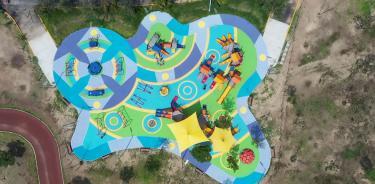 El Bosque de Aragón ahora cuenta con un área recreativa 100 por ciento incluyente
