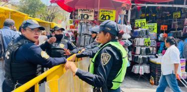 V. Carranza implementa operativo de seguridad en el 64 aniversario del mercado La Merced