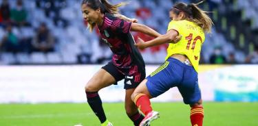 México vence 2-0 a Colombia en partido amistoso en el Azteca