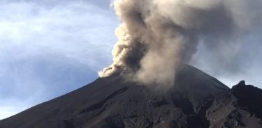 Popocatépetl, cumple tercer día consecutivo con actividad