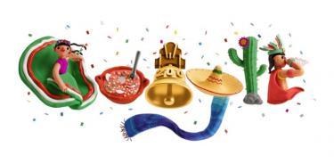 Google se pone muy mexicano y dedica un doodle a las fiestas patrias