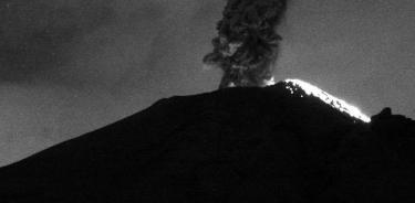 Volcán Popocatépetl registra nueva  explosión esta madrugada