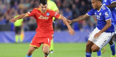 Napoli rescata empate ante el Leicester City en la Europa League