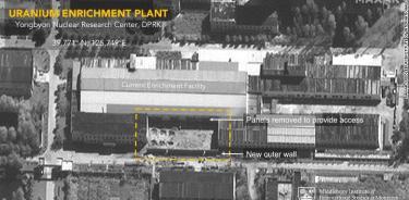 Corea del Norte amplía una planta de producción de uranio enriquecido