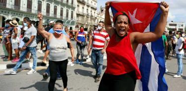 Foto de del 11 de julio de la mayor protesta contra el régimen castrista en décadas (EFE)
