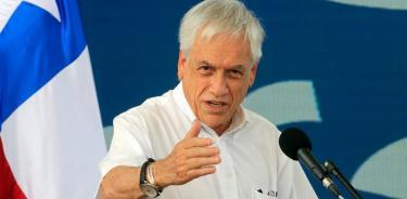 El presidente de Chile, Sebastián Piñera, durante el acto Paz con Legalidad