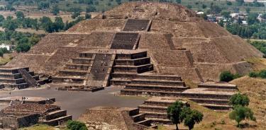 La zona arqueológica de Teotihuacan.